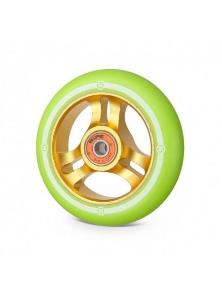 Колесо Hipe 3W 100 мм.  золотой/светло-зелёный