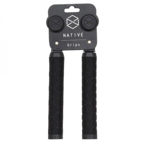 Грипсы для самокатов NATIVE Emblem Hand Grips - Black