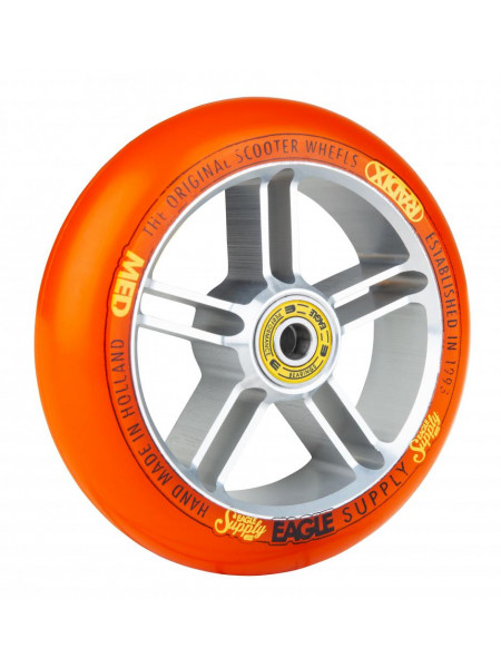 Колесо для самоката EAGLE Supply Radix 5D Silver/Orange 115 mm. х 30 mm.