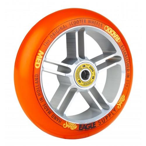 Колесо для самоката EAGLE Supply Radix 5D Silver/Orange 115 mm. х 30 mm.
