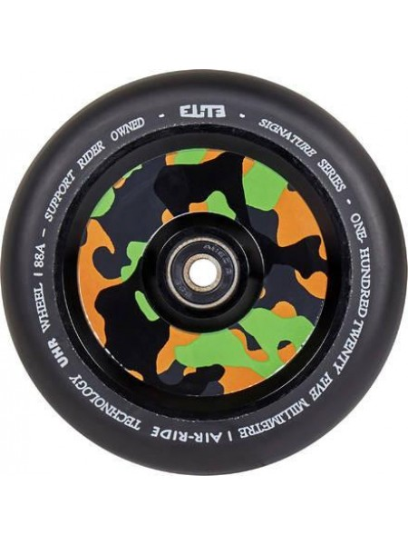 Колесо для самоката ELITE Air Ride Wheels 110 mm. Black/Camo