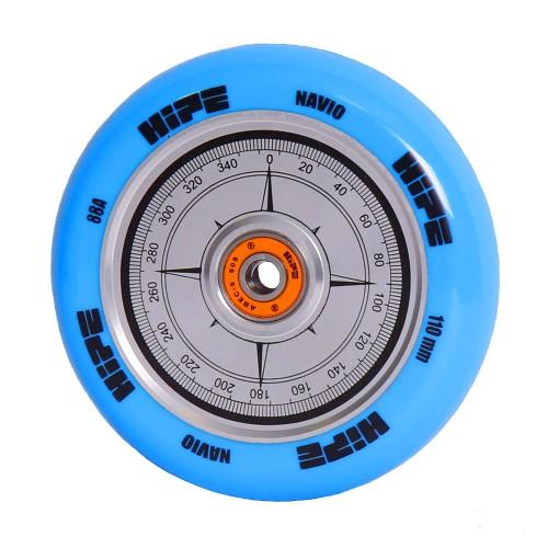 Колесо для самоката HIPE Navio 110мм синий/серебристый
