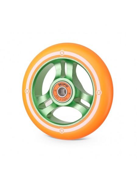 Колесо для самоката HIPE 3W 100мм зеленый/оранжевый