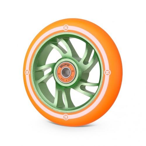 Колесо для самоката HIPE 5W 110мм зеленый/оранжевый