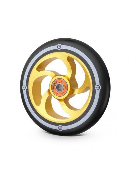 Колесо для самоката HIPE 5F 120мм золотой/черный