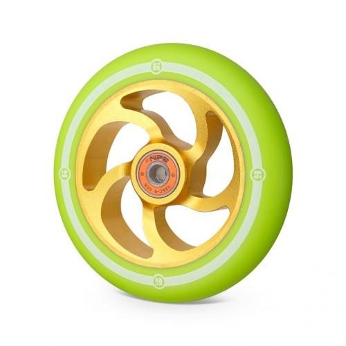 Колесо для самоката HIPE 5F 120мм золотой/светло-зеленый