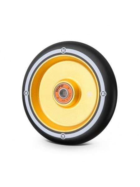 Колесо для самоката HIPE Flat Solid 110мм золотой/черный