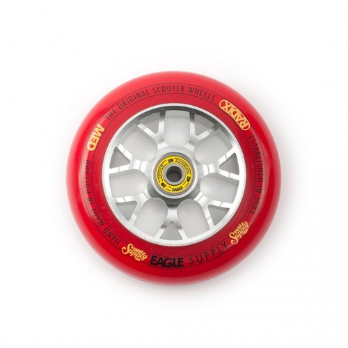 Колесо для самоката EAGLE Supply Wheel Radix Chunky X6 115 mm. - Silver/Red