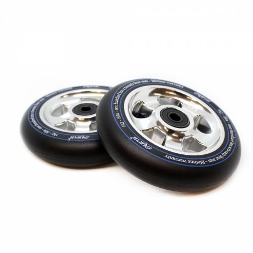 Колесо для самоката NORTH SCOOTERS Wheels - HQ Black PU 88 a 110x 24 mm. - Silver