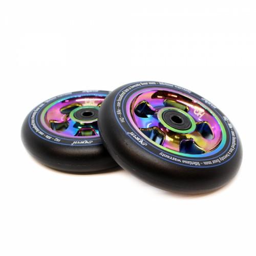 Колесо для самоката NORTH SCOOTERS Wheels - HQ Black PU 88 a 110x 24 mm. - Oil Slick