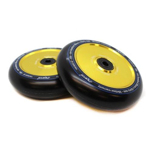 Колесо для самоката NORTH SCOOTERS Wheels - Vacant XL Hollowcore - 115 mm. x 30 Black Pu/Gold