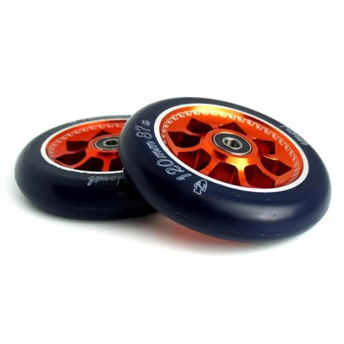 Колесо для трюкового самоката NORTH SCOOTERS Wheels Pentagon(1шт) - Black PU 87a - 120 mm. - copper