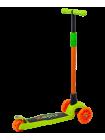 Самокат 3-колесный Chip, 120/80 мм, оранжевый/зеленый