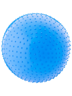 Мяч гимнастический массажный GB-301 65 см, антивзрыв, синий