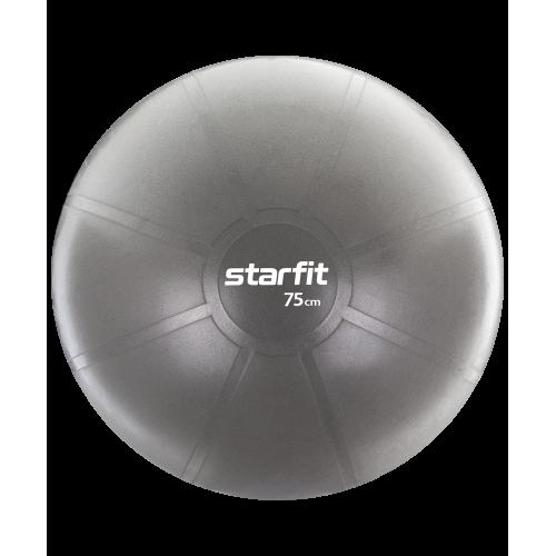 Фитбол PRO GB-107, 75 см, 1400 гр, без насоса, серый, антивзрыв