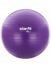 Фитбол GB-106, 65 см, 1000 гр, с ручным насосом, фиолетовый, антивзрыв
