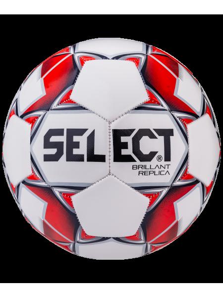 Мяч футбольный Brillant Replica 811608, №4, белый/красный/серый 1/25