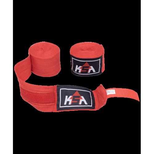 Бинт боксерский Stalker Red, хлопок, 3.5 м