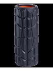 Ролик массажный FA-509, 33x13,5 cм, высокая жесткость, черный/оранжевый