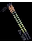 Палки для скандинавской ходьбы Forester, 67-135 см, 3-секционные, болотный/жёлтый