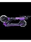 Самокат 2-колесный Sigma 200 мм, ручной тормоз, черный/фиолетовый