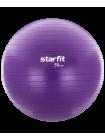 Фитбол GB-106, 55 см, 900 гр, с ручным насосом, фиолетовый, антивзрыв