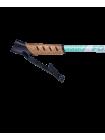 Палки для скандинавской ходьбы Forester, 67-135 см, 3-секционные, белый/мятный