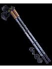 Палки для скандинавской ходьбы Starfall, 77-135 см, 2-секционные, серый/чёрный/белый