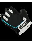 Перчатки для фитнеса SU-111, черные/белые/голубые