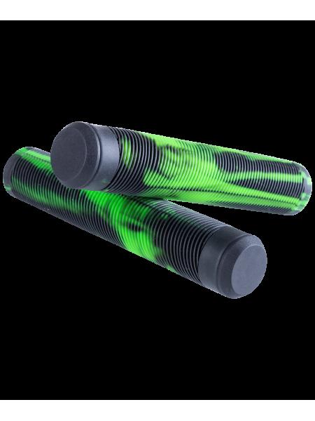 Грипсы для трюкового самоката Duochrome, зеленый/черный