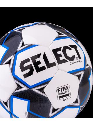 Мяч футбольный Contra FIFA 812317, №5, белый/синий/серый/черный