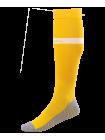 Гетры футбольные JA-003, желтый/белый