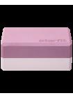 Блок для йоги YB-201 EVA, 22,8х15,2х10 см, 350 гр, пыльная роза