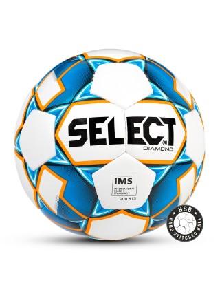 Мяч футбольный DIAMOND IMS,№5, бел/син/оранж