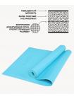 Коврик для йоги FM-103, PVC HD, 173 x 61 x 0,4 см, голубой