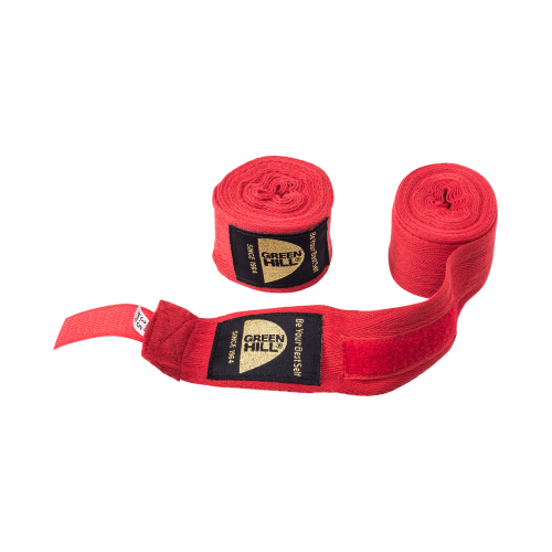 Бинт боксерский BC-6235c, 3,5м, х/б, красный