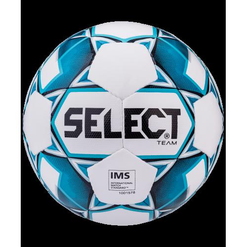 Мяч футбольный Team IMS 815419 №5, белый/синий/черный