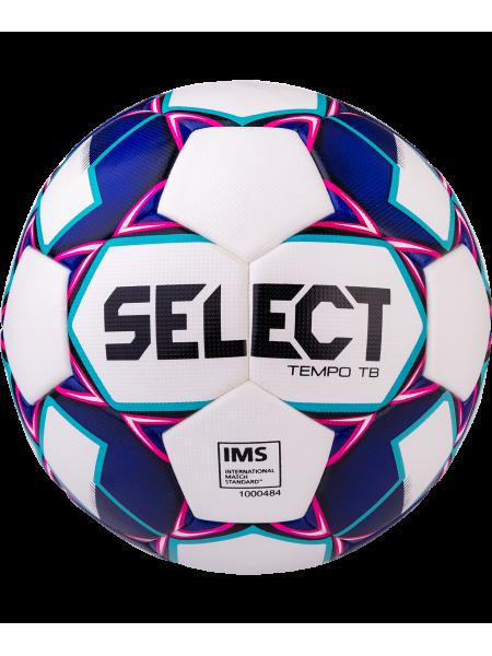 Мяч футбольный Tempo TB IMS №5 белый/фиолетовый/синий
