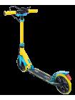 Самокат 2-колесный Rank 200 мм, ручной тормоз, желтый/голубой