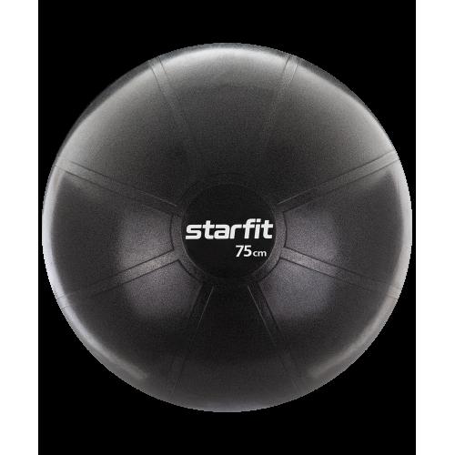 Фитбол PRO GB-107, 75 см, 1400 гр, без насоса, чёрный, антивзрыв