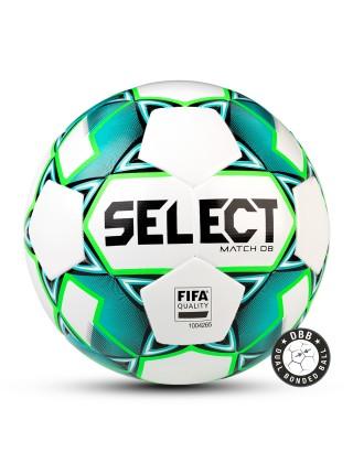 Мяч футбольный MATCH DB, №5, бел/зел/чер