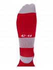 Гетры футбольные Essential JA-006, красный/серый