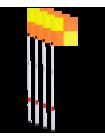 Флаг угловой JA-400, набор из 4 штук