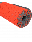 Коврик для фитнеса FM-202, TPE перфорированный, 173 x 61 x 0,5 см, ярко-красный