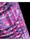 Ролик массажный FA-508, 33x14 cм, розовый камуфляж/черный