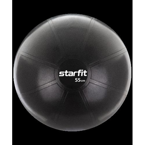 Фитбол PRO GB-107, 55 см, 1100 гр, без насоса, чёрный, антивзрыв