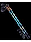 Палки для скандинавской ходьбы Starfall, 77-135 см, 2-секционные, синий/серый/жёлтый