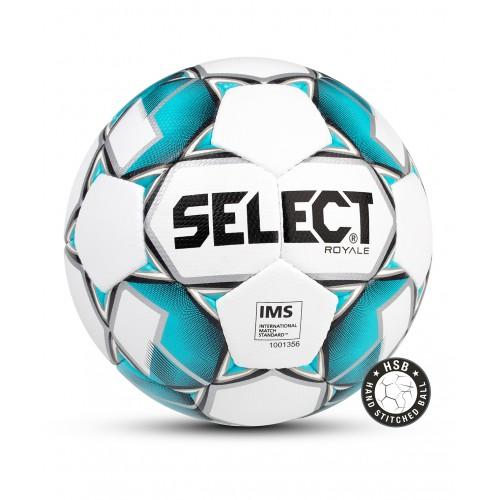 Мяч футбольный ROYALE, №5, бел/син