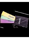 Фитнес-резинки ES-203 латекс, комплект пастель, 3 шт
