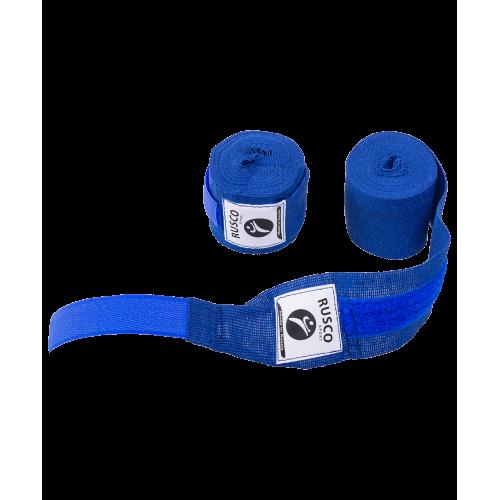 Бинт боксерский, 2,5 м, хлопок, синий